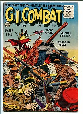 G.I. COMBAT #24 1955-QUALITY-TANK ATTACK-COMMIES-TANKS-vg
