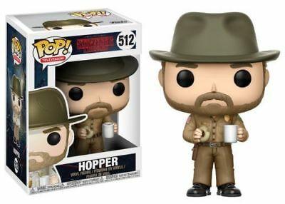 "Funko Pop Stranger Things Hopper With Donut 3.75"" Vinyl Figure IN STOCK"