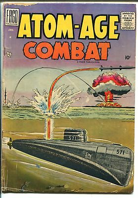 Atomic-Age Combat  #2 1959-Fago-nuclear war-a-bomb cover-Dick Ayers-VG