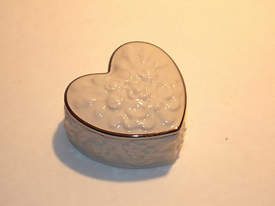 "LENOX ""Wedding Promises"" Collection - Small Heart-Shaped Trinket Box"