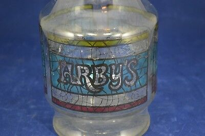Arby's Stained Glass Design Decanter Pitcher