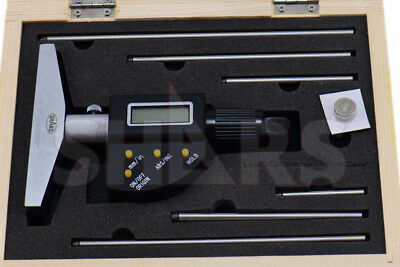 "SHARS TOOLS   0-6""/152.4mm Electronic Depth Micrometer!"