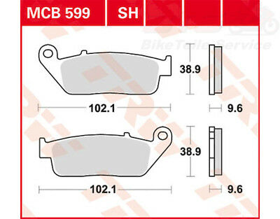 Bremsklötze TRW Lucas Bremsbelag MCB599 vorn links disc brake pad Indian Honda C