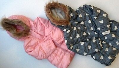 Baby GAP Girls' Warmest Jacket / Puffer Parka - GREY or PINK - 3 -4 years - NEW