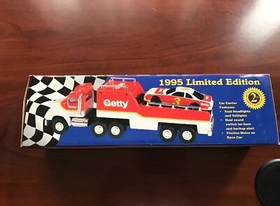 Brand New Limited Edition 1995 GETTY Toy Race Car Carrier in Original Box