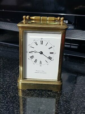 Large French Four Glass Martin And Son Paris And Cheltenham Carriage Clock