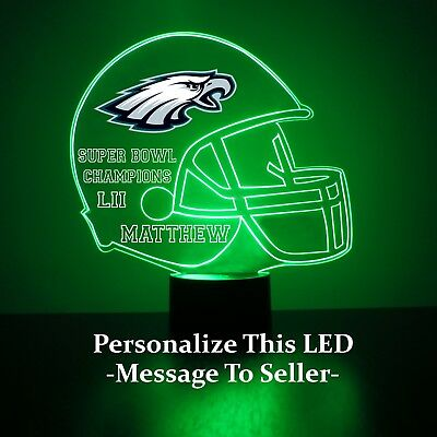 Nfl eagles handmade lamp shade lampshade 2999 picclick philadelphia eagles night light lamp personalized free nfl football light up mozeypictures Image collections