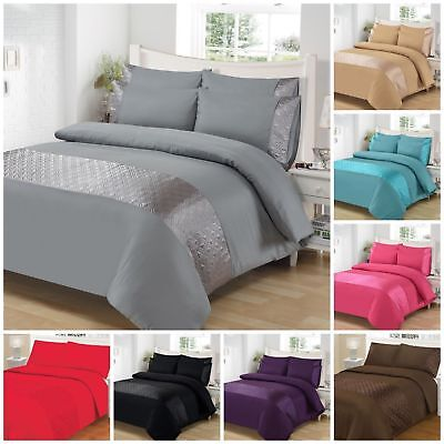 Ellipse Satin Stripes Luxurious Duvet Covers Quilt Covers Bedding Sets All Sizes