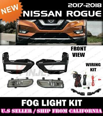 for 2017 2018 NISSAN ROGUE Fog Light Driving Lamp Kit w/ switch wiring (CLEAR)