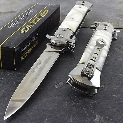 "9"" STILETTO TAC FORCE MILANO TACTICAL PEARL SPRING ASSISTED FOLDING KNIFE Pocket"