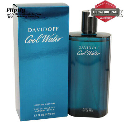 COOL WATER Cologne by Davidoff EDT Spray for MEN 4.2 6.7 1.35 2.5 oz 125 200 ML