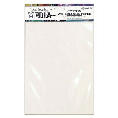 Cotton Watercolour Paper - Dina Wakley Media - 10 Sheets