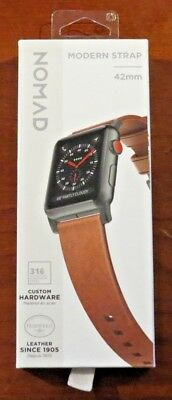 Nomad - Modern Strap - Horween Leather for Apple Watch 42mm (Brown) NEW!
