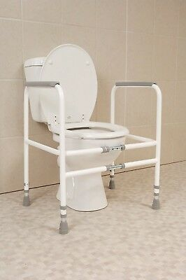 Free Standing Toilet Frame Width and Height Adjustable for Sick or Elderly