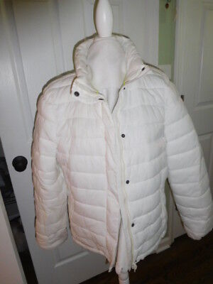 America Eagle Outfitters White Quilted Jacket Zipper & Snap  Size XXL White  NWT