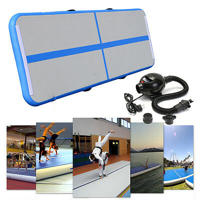 3 X 10FT Air Track Floor Home Inflatable Gymnastics Tumbling Mat GYM W/Pump FREE