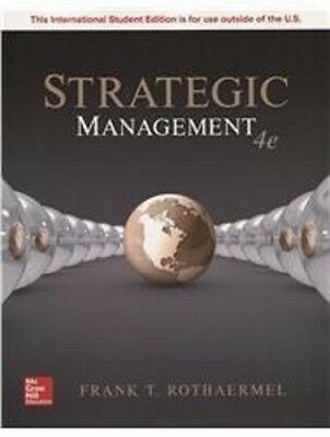 Strategic Management 4th by Rothaermel  NEW Int'l Ed. US Delivery 3-4 bus days