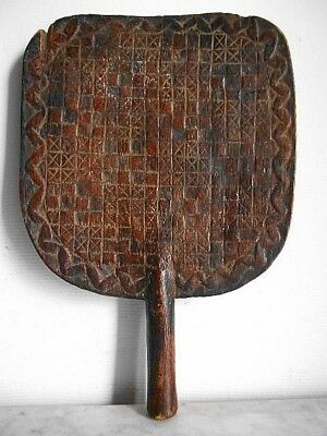 Fan Royal YOROUBA ART TRIBALE African ETHNOLOGY Arte african 54cmx37cm