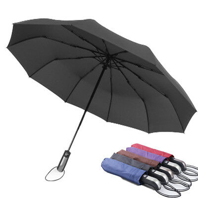Two Layers Business Men's Windproof Compact Folding Automatic Large Umbrella New