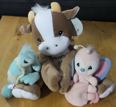 Precious Moments Plush Lot Cow Turtle Butteryfly Beanie