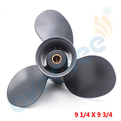 9 1/4X9 3/4 Pitch Aluminum Outboard Propeller For Honda Outboard Marine 8-20HP