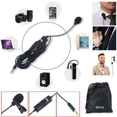 BOYA BY-M1 Lavalier Condenser Microphone for iPhone Samsung DSLR Camcorder PC