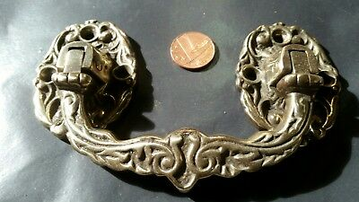 ORIGINAL DRAWER HANDLE PULL cabinet CHEST door FRENCH cast brass  Antique OLD