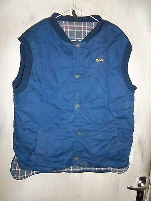 Barbour Trapper Quilted Cotton Gilet Jacket Size M