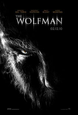 THE WOLFMAN great 27x40 D/S movie poster BENECIO DEL TORO (s01)