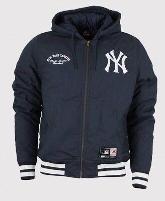 buy online 6af98 a0333 MAJESTIC NEW YORK YANKEES ZIP CAPPUCCIO giacca da uomo codice  a6nyy5509nvy012