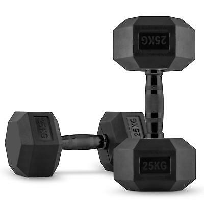CAPITAL SPORTS Hexbell Dumbbell Paire d'haltères courts 2 x 25 kg musculation