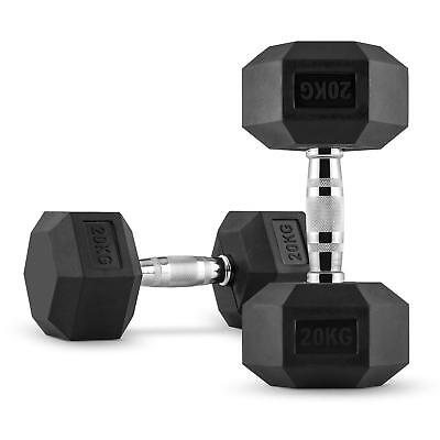 2X Halteres Courts Capital Sports Hexbell Dumbbell 20 Kg Total 40Kg Fitness Pro