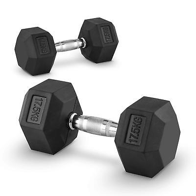 2 X Halteres Courts Capital Sports Hexbell Dumbbell 17,5 Kg Total 35Kg Fitness