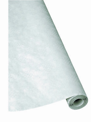 1 Paper Table Cover White, 100cm x 25m, Table Cloth Damast, Tablecloth, Wheel