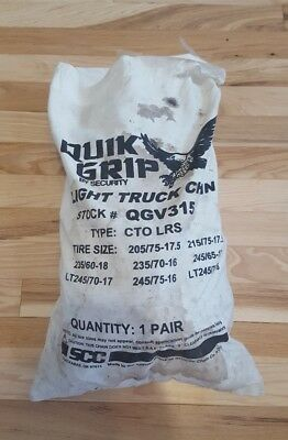 QGV315 Quik Grip V-Bar Type CTO Light Truck Tire Traction Chain, Set of 2