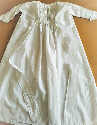 "Edwardian childs nightgown nightdress white cotton 80cm 31"" length"