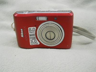 Nikon COOLPIX L18 8.0MP Red Digital Camera Point & Shoot AS-IS PARTS OR REPAIR