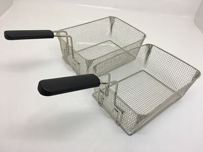 2x Pair Parry Commercial Fryer Basket with Rear Hook