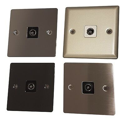 Volex TV Coax Wall Socket Faceplate - Television, Panel, Co-Axial, Aerial, Cable