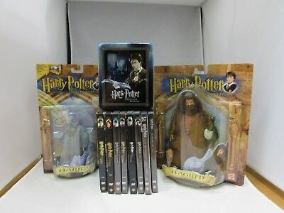 Lot Of Harry Potter DVD's, Collectible Figures And Artbox Trading Cards! New/LN!