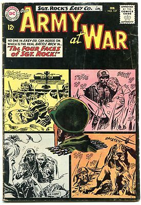 Our Army at War #127 1963- 1st Little Sure Shot- 2nd full Sgt Rock  issue VG