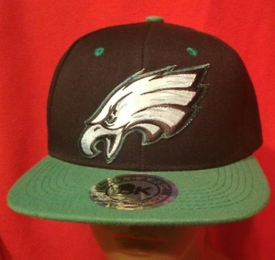 98cabe6a Philadelphia Eagles NFL Baseball Cap Flat Green Bill Snapback Football Hat