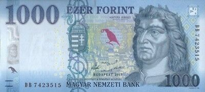 Hungary 1000 Forint 2018 P-New Unc !!!new Design!!!