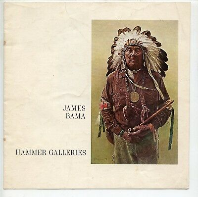 1973 Catalog, Western Artist James Bama, Hammer Galleries, NYC