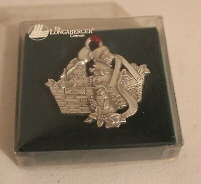 Longaberger 1993 Bayberry Pewter Ornament~NEW