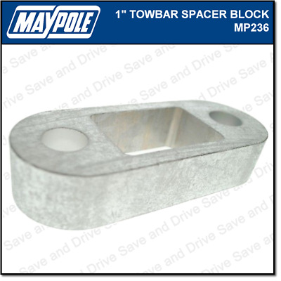 "Maypole Towbar 1 Inch Spacer Block Towing Trailer Caravan Towball 1"" 2.5cm MP236"