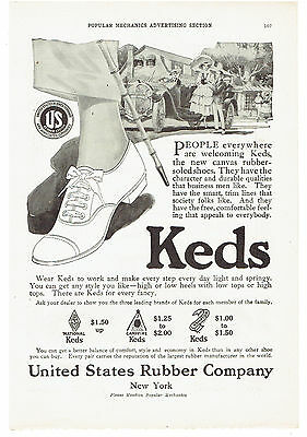 Vintage, Original, 1917 - Keds Canvas Rubber Soled Shoes Advertisement