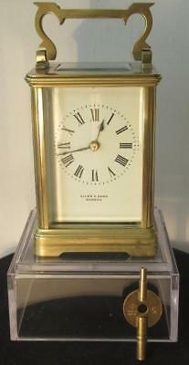 Stunning Antique French c1870 'R & Co Paris' Striking 8 Day Carriage Clock w Key