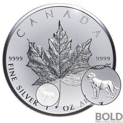 2018 Silver 1 oz Canada Maple Leaf Dog Privy
