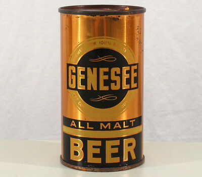 Genesee All Malt Clean Irtp Oi Flat Top Beer Can Rochester New York Ny Genny Old